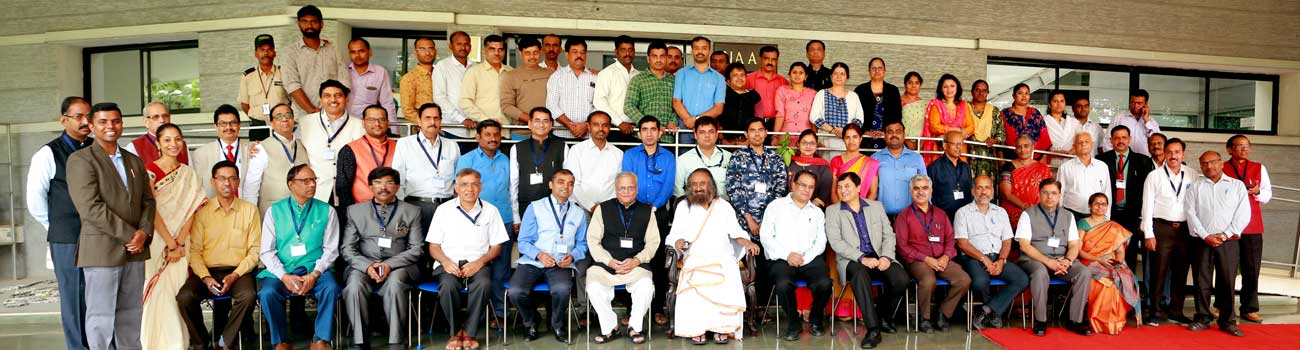 Group Photo of Programme on Role of Character Building, Personality Development and Moral Values in Quality Enhancement in the Divine Presence of Sri Sri Ravi Shankar Guruji, Art of Living International Centre, Bengaluru, Karnataka